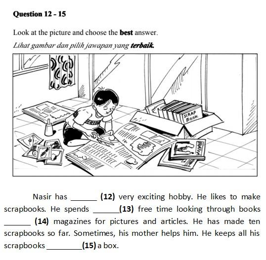 Soalan Upsr Bahasa Inggeris Latihan 2 Upsr Online