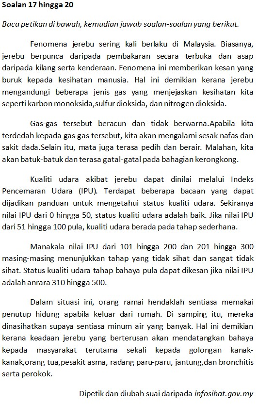 Soalan Upsr Bahasa Melayu Latihan 2 Upsr Online