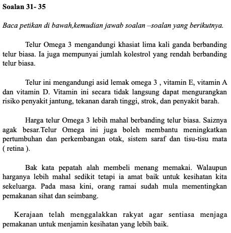 Soalan Latihan Bahasa Melayu Tahun 4 Upsr Online