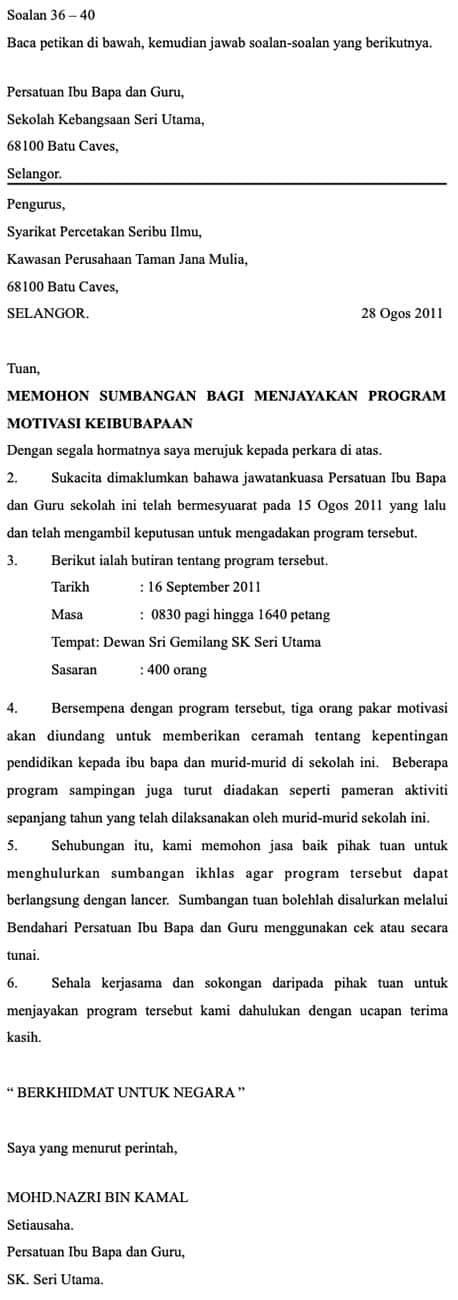 Soalan Latihan Bahasa Melayu Tahun 5 Upsr Online